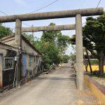 佳冬郷 旧佳冬神社 民家に同化した鳥居 今に残る日本統治時代の遺構 神橋や石灯篭