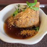 李家麻豆粽子碗粿 駅前食堂で常連さんに混じって朝ごはん!肉粽と味噌湯いただく!